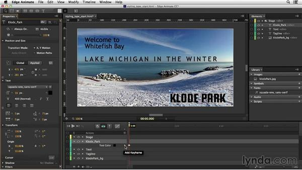 Customizing text styles: Migrating from Flash to Edge Animate