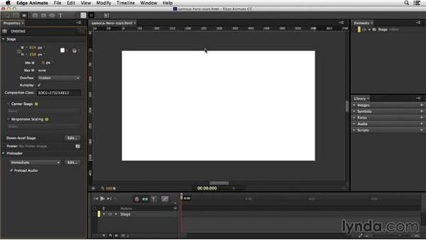 Re-creating a Flash document in Edge Animate: Migrating from Flash to Edge Animate