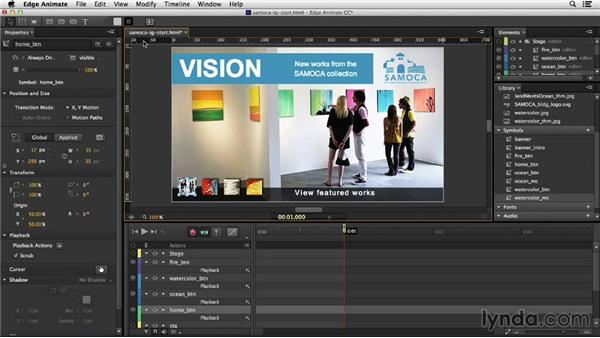 Creating the image gallery: Migrating from Flash to Edge Animate
