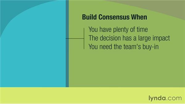 Building consensus: Management Tips