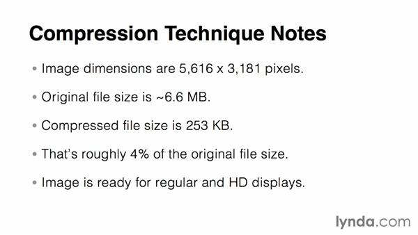 Compressing large images: Responsive Media