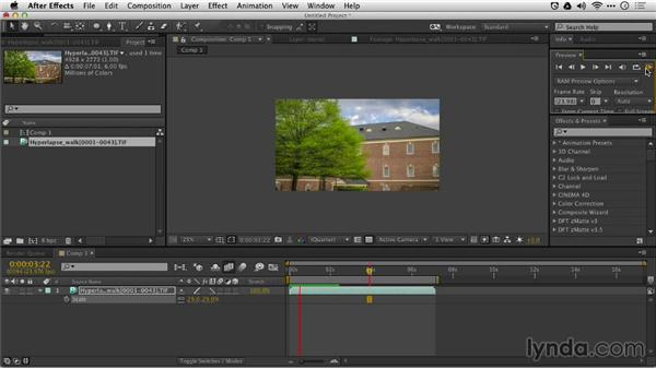 Processing the hyperlapse: Shooting a Time-Lapse Movie with the Camera in Motion