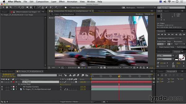 Using the camera track to add text: Shooting a Time-Lapse Movie with the Camera in Motion