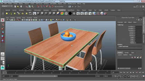 Selecting objects: Maya 2015 Essential Training