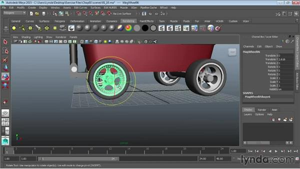 Manipulating pivots: Maya 2015 Essential Training