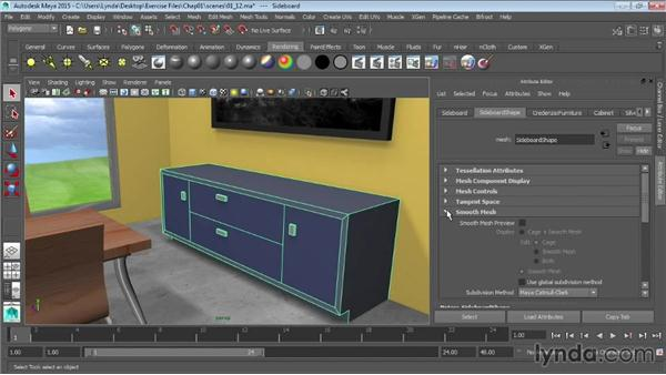 Working with the Attribute Editor: Maya 2015 Essential Training
