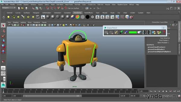 Using the Grease Pencil tool: Maya 2015 Essential Training