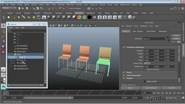 Grouping objects: Maya 2015 Essential Training