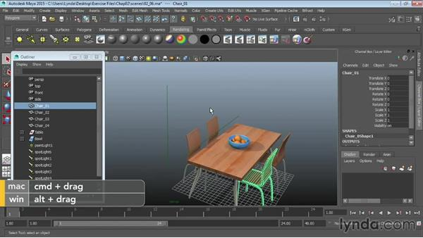 Hiding and showing objects: Maya 2015 Essential Training