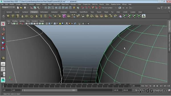 Differences between NURBS and polys: Maya 2015 Essential Training