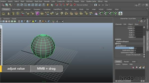 Creating polygonal objects: Maya 2015 Essential Training