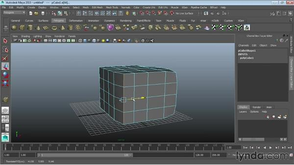 Selecting polygonal components: Maya 2015 Essential Training