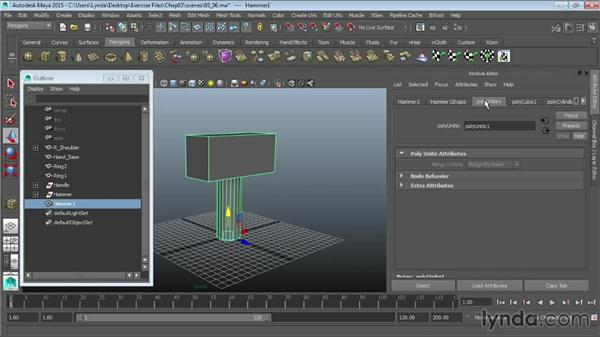 The Combine and Separate commands: Maya 2015 Essential Training