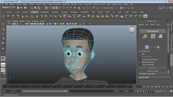 Using the Modeling Toolkit: Maya 2015 Essential Training