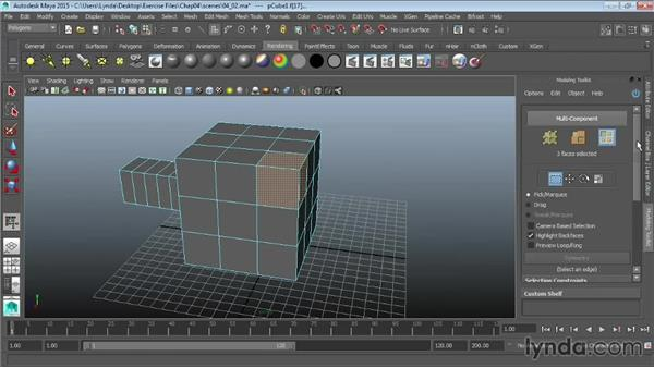 Using the extrude tools: Maya 2015 Essential Training
