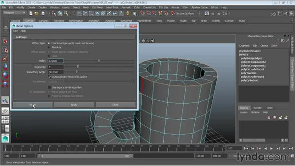 Using the bevel tools: Maya 2015 Essential Training