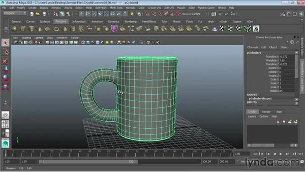 Smoothing models and adding detail: Maya 2015 Essential Training