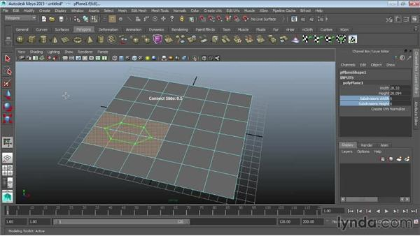 Drawing detail with the Connect tool: Maya 2015 Essential Training