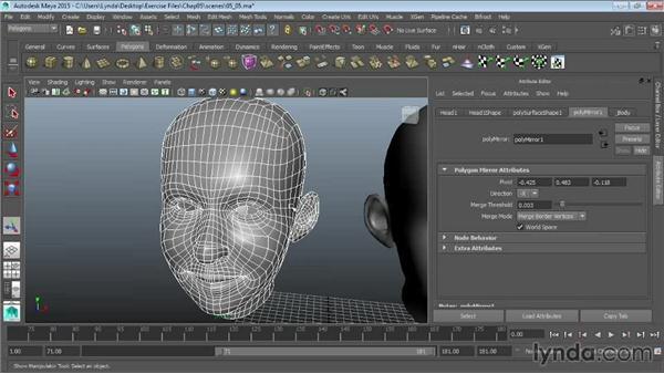 Mirroring geometry: Maya 2015 Essential Training