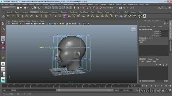 Modeling with lattices: Maya 2015 Essential Training