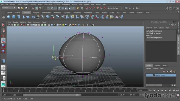 Introducing NURBS modeling and editing: Maya 2015 Essential Training