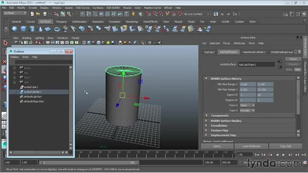NURBS primitives: Maya 2015 Essential Training