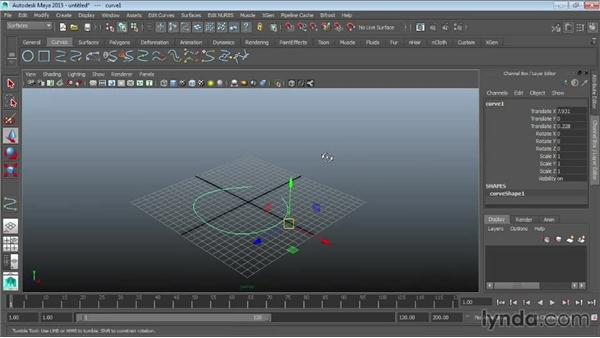 Opening and closing curves and surfaces: Maya 2015 Essential Training