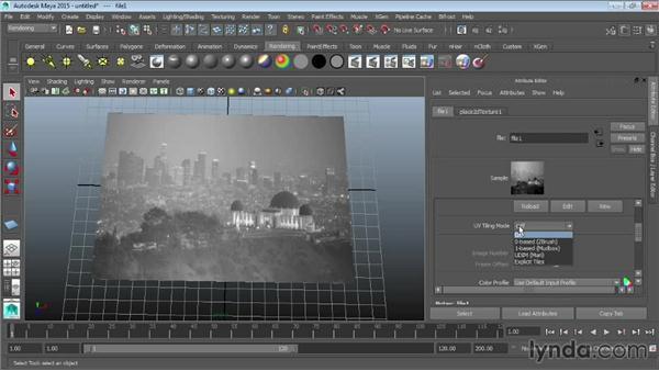 Using bitmaps as texture: Maya 2015 Essential Training