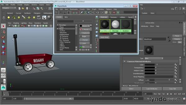 Working with the Hypershade window: Maya 2015 Essential Training