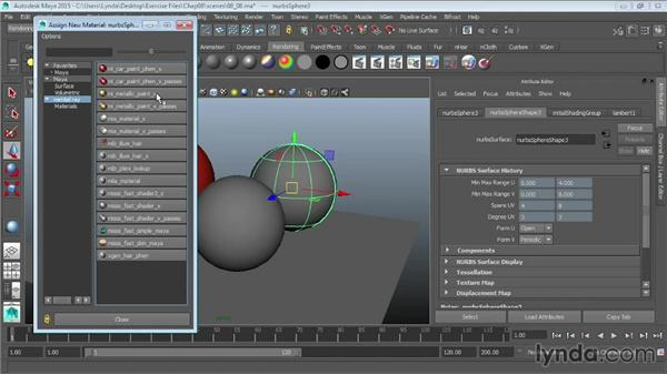 mental ray materials: Maya 2015 Essential Training