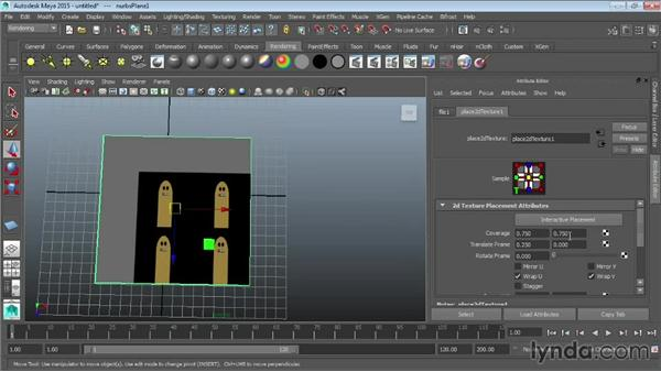Texture mapping within materials: Maya 2015 Essential Training