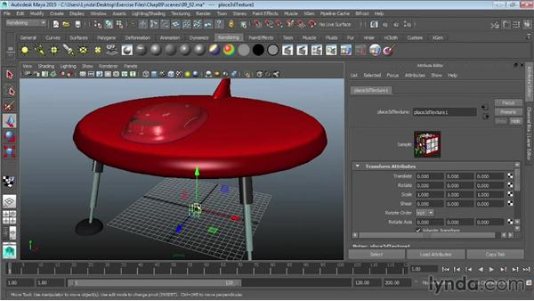 Projecting textures on surfaces: Maya 2015 Essential Training
