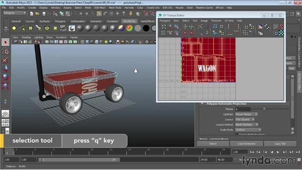 Using the UV Texture Editor: Maya 2015 Essential Training
