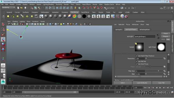 Creating shadows: Maya 2015 Essential Training