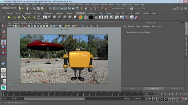 Matching lights and shadows to images: Maya 2015 Essential Training