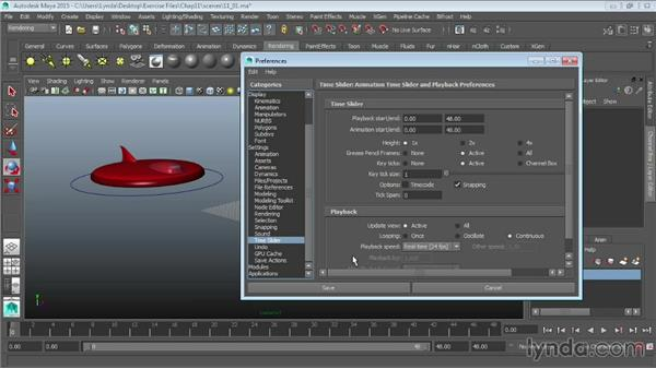 Understanding the animation interface: Maya 2015 Essential Training