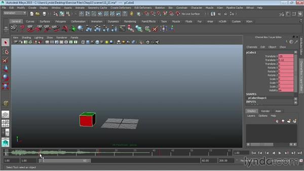Adding sound to animations: Maya 2015 Essential Training