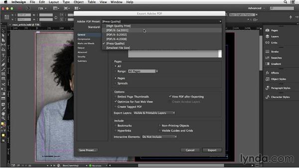Using Adobe PDF presets: InDesign Insider Training: Print PDFs