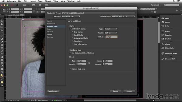 Common changes to PDF presets: InDesign Insider Training: Print PDFs