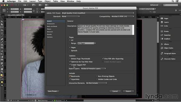 Creating a hybrid screen and a print document: InDesign Insider Training: Print PDFs
