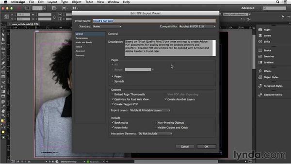 Saving custom PDF presets: InDesign Insider Training: Print PDFs