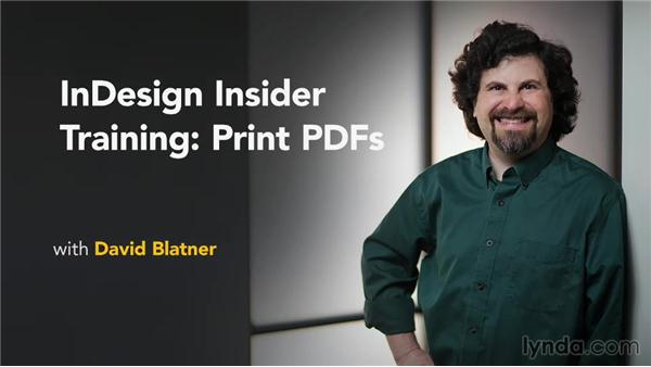 Next steps: InDesign Insider Training: Print PDFs
