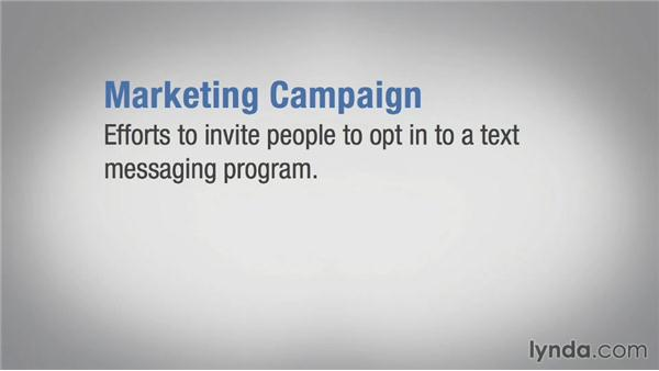 Key terms for messaging campaigns: Mobile Marketing Fundamentals