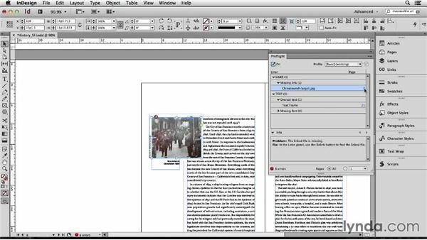 147 Using preflight to find common document errors: InDesign Secrets