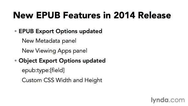 About the InDesign CC 2014 update: InDesign CC: EPUB Fundamentals