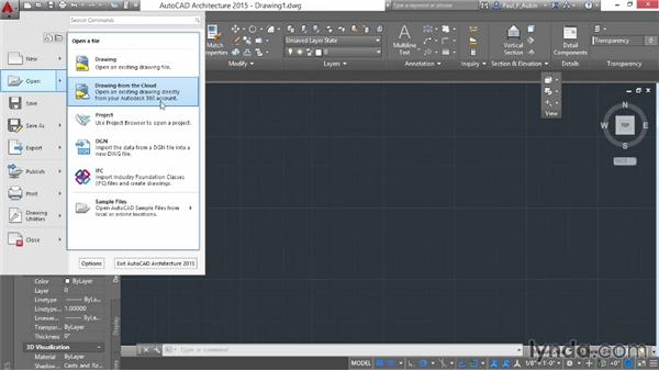 Using the application menu, ribbon, and Quick Access toolbar: AutoCAD Architecture Essential Training