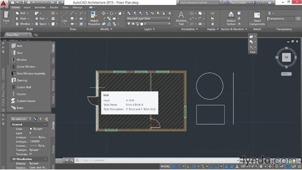 Understanding context ribbons: AutoCAD Architecture Essential Training