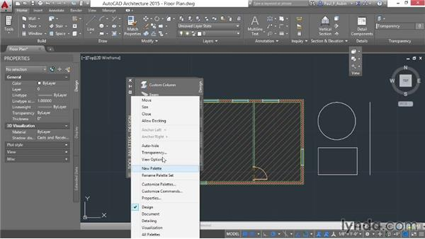 Using the palettes: AutoCAD Architecture Essential Training