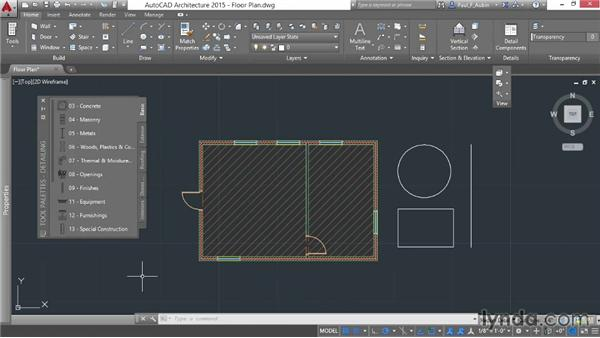 Working with the tool palettes: AutoCAD Architecture Essential Training