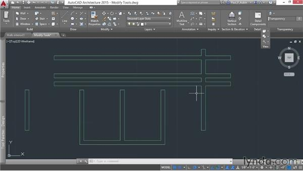 Using the Modify tools with walls: AutoCAD Architecture Essential Training